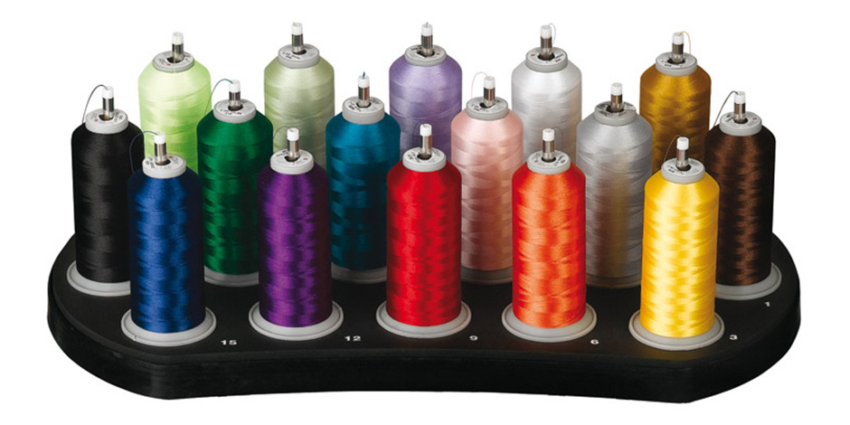 Las máquinas de bordar Melco EMT16 le permiten producir diseños de hasta 16 colores